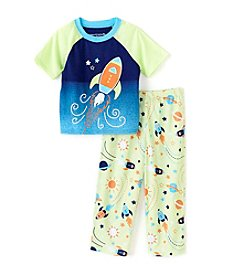 Komar Kids® Boys' 2T-4T 2-Piece Rocket Ship Sleepwear Set