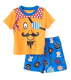 Komar Kids® Boys' 2T-4T 2-Piece Pirate Sleepwear Set