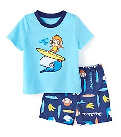 Komar Kids® Boys' 2T-4T 2-Piece Monkey Sleepwear Set
