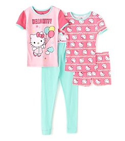 Komar Kids® Baby Girls' 4-Piece Hello Kitty® Sleepwear Set