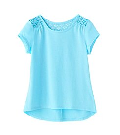 Miss Attitude Girls' 7-16 Short Sleeve Crochet Top