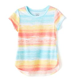 Miss Attitude Girls' 7-16 Short Sleeve Printed Tee
