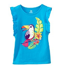 Mix & Match Girls' 4-7 Flutter Sleeve Tank Top