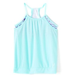 Exertek® Girls' 7-16 2fer Tank With Printed Bra