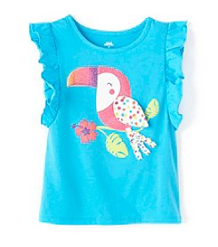 Mix & Match Girls' 2T-7 Flutter Sleeve Tank Top