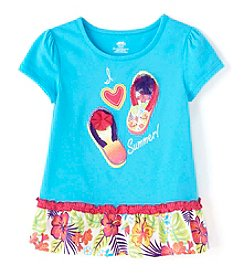 Mix & Match Girls' 2T-6X Short Sleeve Peplum Tee