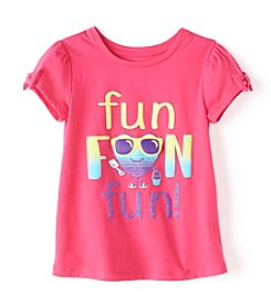 Mix & Match Girls' 2T-6X Bow Sleeve Tee