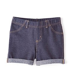 Mix & Match Girls' 2T-6X Denim Knit Shorts