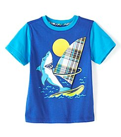 Mix & Match Boys' 4-8 Short Sleeve Shark Graphic Tee