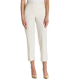 Alfred Dunner® Proportioned Stripe Cropped Pants
