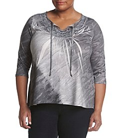Oneworld® Plus Size Tie Dye Sublime Top