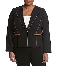 Nine West® Plus Size One Button Crepe Jacket