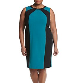 Nine West® Plus Size Crossfront Neckline Dress