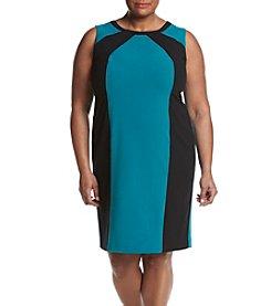 Nine West® Plus Size Crossfront Neckline Dress