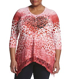 Oneworld® Plus Size Heart Drop Tunic