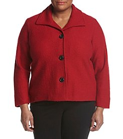 Kasper® Plus Size Boiled Wool Jacket