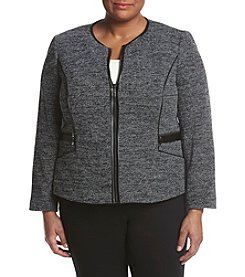 Kasper® Plus Size Front Zipper Jacket