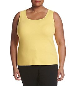 Kasper® Plus Size Square Neck Sweater Shell
