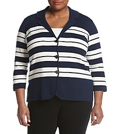 Kasper® Plus Size Sweater Blazer