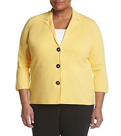 Kasper® Plus Size Sweater Jacket