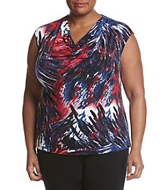 Kasper® Plus Size Cap Sleeve Top