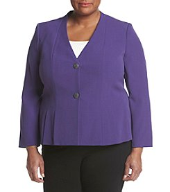 Kasper® Plus Size Crepe Jacket