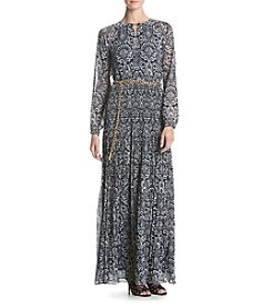 MICHAEL Michael Kors® Tapestry Pleated Maxi Dress
