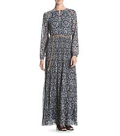 MICHAEL Michael Kors® Tapestry Pleated Maxi Dress