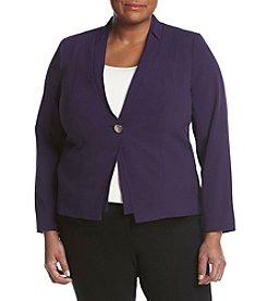 Calvin Klein Plus Size Button Front Blazer
