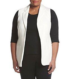 Calvin Klein Plus Size Open Front Vest