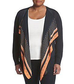 MICHAEL Michael Kors® Plus Size Mixed Print Open Front Vest