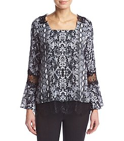 Relativity® Lace Trim Blouse