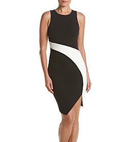 GUESS Color Block Scuba Dress