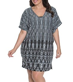 Dotti Plus Size Tie Dye Flutter Tunic Cover Up