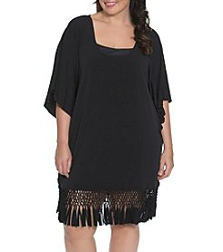 Dotti Plus Size Summer Sunset Fringe Tunic