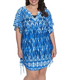 Dotti Plus Size Tunic Flutter Cover Up