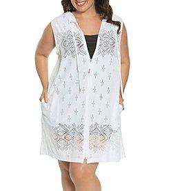Dotti Plus Size Tunic Hoodie Coverup