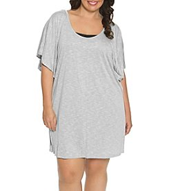 Dotti Plus Size Tunic Flutter Cabana Cover Up