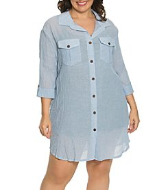 Dotti Plus Size Shirt Dress Coverup