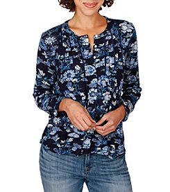 Lucky Brand® Floral Vines Top