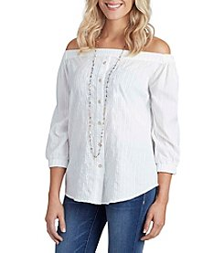 Democracy Off-Shoulder Blouse