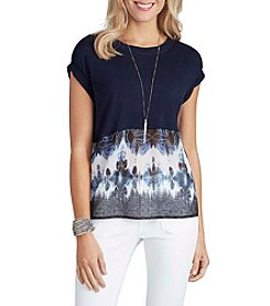 Democracy Printed Knit Top