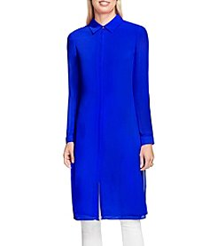 Vince Camuto Button Front Long Tunic