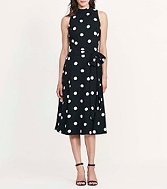 Lauren Ralph Lauren® Dot Crepe Dress