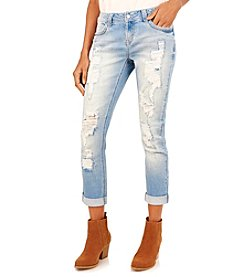 Wallflower® Destructed Roll Skinny Jeans