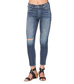 Silver Jeans Co. Mazy Paint Splatter Skinny Jeans