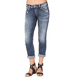 Silver Jeans Co. Cuffed Boyfriend Jeans