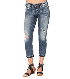 Silver Jeans Co. Sam Cropped Destructed Boyfriend Jeans