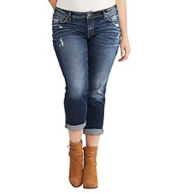 Silver Jeans Co. Plus Size Sam Cuffed Boyfriend Jeans