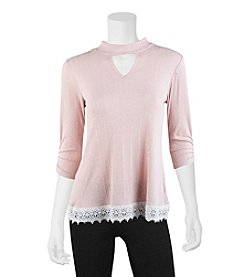 A. Byer Lace Trim Top